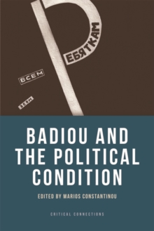 Badiou and the Political Condition, Paperback / softback Book