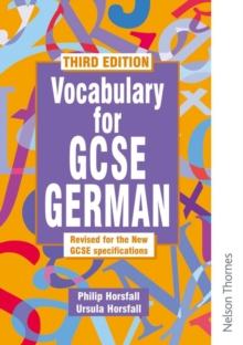 Vocabulary for GCSE German, Paperback Book