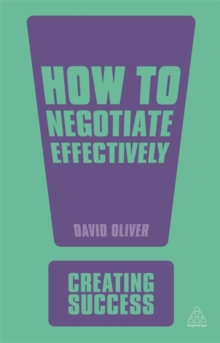 How to Negotiate Effectively, Paperback / softback Book