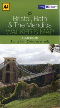Bristol, Bath and the Mendips, Sheet map, folded Book