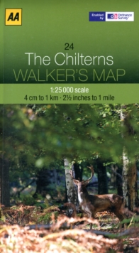 The Chilterns, Sheet map, folded Book