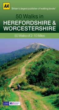 50 Walks in Herefordshire & Worcestershire, Paperback / softback Book