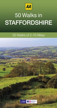 50 Walks in Staffordshire, Paperback Book