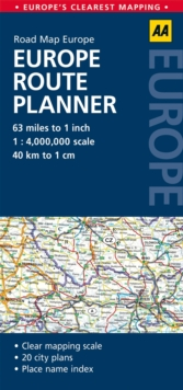 Europe Route Planner : AA Road Map Europe, Sheet map, folded Book