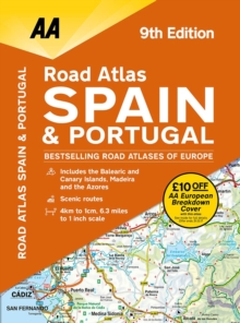 Road Atlas Spain & Portugal, Spiral bound Book