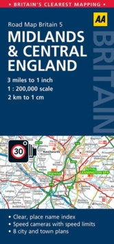 Midlands & Central England, Sheet map, folded Book
