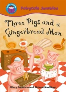 Three Pigs and a Gingerbread Man, Paperback Book