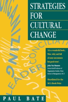 Strategies for Cultural Change, Paperback Book