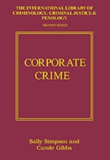Corporate Crime, Hardback Book
