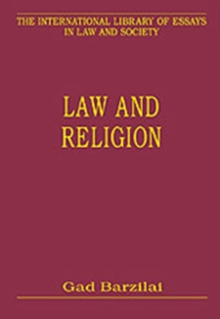 Law and Religion, Hardback Book