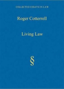 Living Law : Studies in Legal and Social Theory, Hardback Book