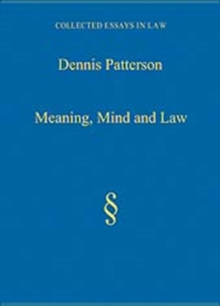 Meaning, Mind and Law, Hardback Book