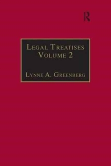 Legal Treatises : Essential Works for the Study of Early Modern Women: Series III, Part One, Volume 2, Hardback Book