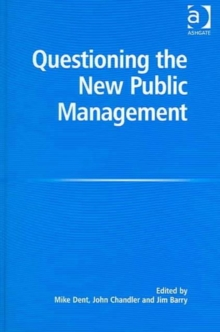 Questioning the New Public Management, Hardback Book
