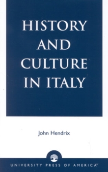 History and Culture in Italy, Paperback / softback Book