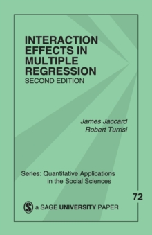 Interaction Effects in Multiple Regression, Paperback / softback Book