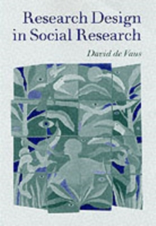 Research Design in Social Research, Paperback Book