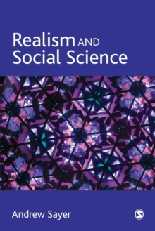 Realism and Social Science, Paperback Book