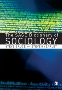 The Sage Dictionary of Sociology, Paperback Book