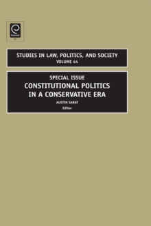 Constitutional Politics in a Conservative Era : Special Issue, Hardback Book