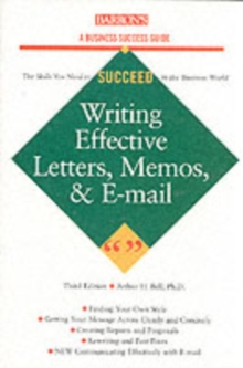 Writing Effective Letters,Memos and E-mails, Paperback Book