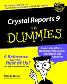 Crystal Reports 9 For Dummies, Paperback / softback Book