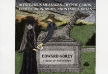 Edward Gorey Mysterious Messages Cryptic Cards Coded Conundrums Anonymous Notes Book of Postcards Aa649, Postcard book or pack Book