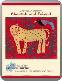 Cheetah and Friend Gabriella Denton 100-Piece Jigsaw Puzzle Aa797, Other merchandise Book
