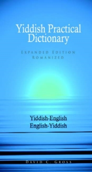 Yiddish-English / English-Yiddish Practical Dictionary, Paperback Book
