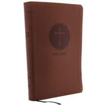 KJV, Reference Bible, Giant Print, Leathersoft, Brown, Red Letter Edition, Comfort Print, Leather / fine binding Book