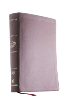 The NKJV, Open Bible, Leathersoft, Brown, Red Letter Edition, Comfort Print : Complete Reference System, Leather / fine binding Book
