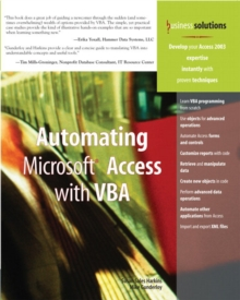 Automating Microsoft Access with VBA, Paperback / softback Book