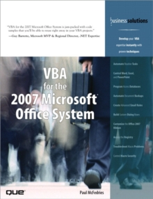 VBA for the 2007 Microsoft Office System, Paperback / softback Book