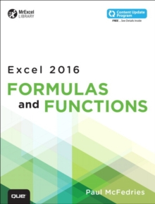 Excel 2016 Formulas and Functions (includes Content Update Program), Paperback Book
