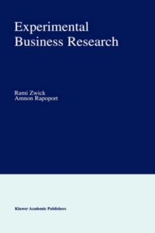 Experimental Business Research, Hardback Book