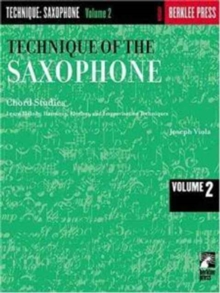 TECHNIQUE OF THE SAXOPHONE VOLUME 2,  Book
