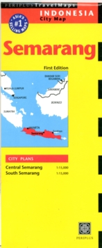 Semarang Travel Map, Sheet map, folded Book