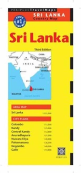 Sri Lanka Travel Map, Sheet map, folded Book