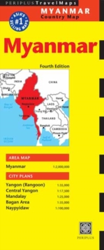 Myanmar Travel Map, Sheet map Book