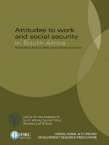 Attitudes to Work and Social Security in South Africa, Paperback / softback Book