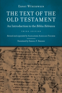 Text of the Old Testament : An Introduction to the Biblia Hebraica, Paperback / softback Book