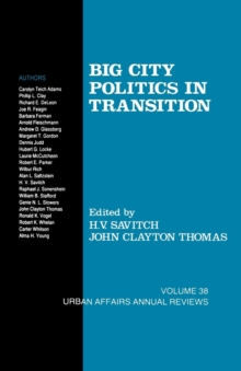 Big City Politics in Transition, Paperback / softback Book