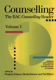 Counselling : The BACP Counselling Reader, Paperback Book