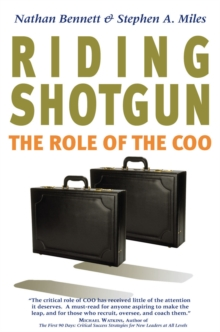 Riding Shotgun : The Role of the COO, Hardback Book