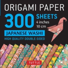 Origami Paper - Japanese Washi Patterns- 4 inch (10cm) 300 sheets : Tuttle Origami Paper: High-Quality Origami Sheets Printed with 12 Different Designs, Kit Book