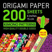 Origami Paper 200 sheets Kimono Patterns 6 (15 cm), Loose-leaf Book