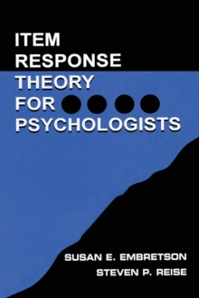 Item Response Theory, Paperback Book
