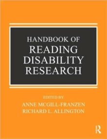 Handbook of Reading Disability Research, Paperback / softback Book