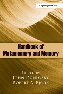 Handbook of Metamemory and Memory, Hardback Book