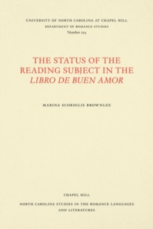 The Status of the Reading Subject in the Libro de Buen Amor, Paperback / softback Book